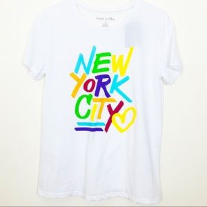Love Tribe New York City T-Shirt, Junior Large